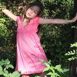 Sweet summer dress in babydoll smock style